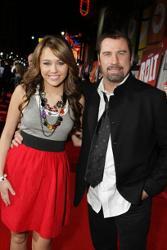 Miley Cyrus & John Travolta