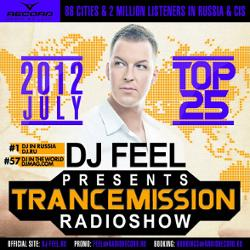 Обложка DJ Feel - TranceMission Top 25 Of July 2012