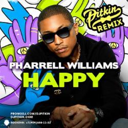 Обложка Pharrell Williams - Happy (DJ PitkiN Remix)
